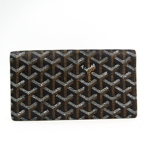 Goyard Richelieu Leather,Canvas Long Wallet (bi-fold) Black,Brown,White