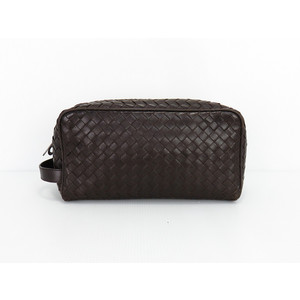 Bottega Veneta 174361 Leather Clutch Bag Brown
