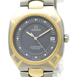 【OMEGA】オメガ シーマスター ポラリス デイデイト K18 ゴールド チタン クォーツ メンズ 時計 396.1100