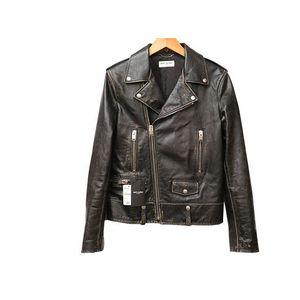 L01O Men's Motorcycle Jacket (Black)