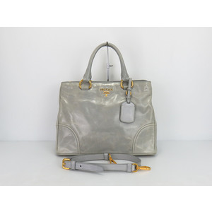 Prada Leather Handbag,Shoulder Bag Pervinca+Gri