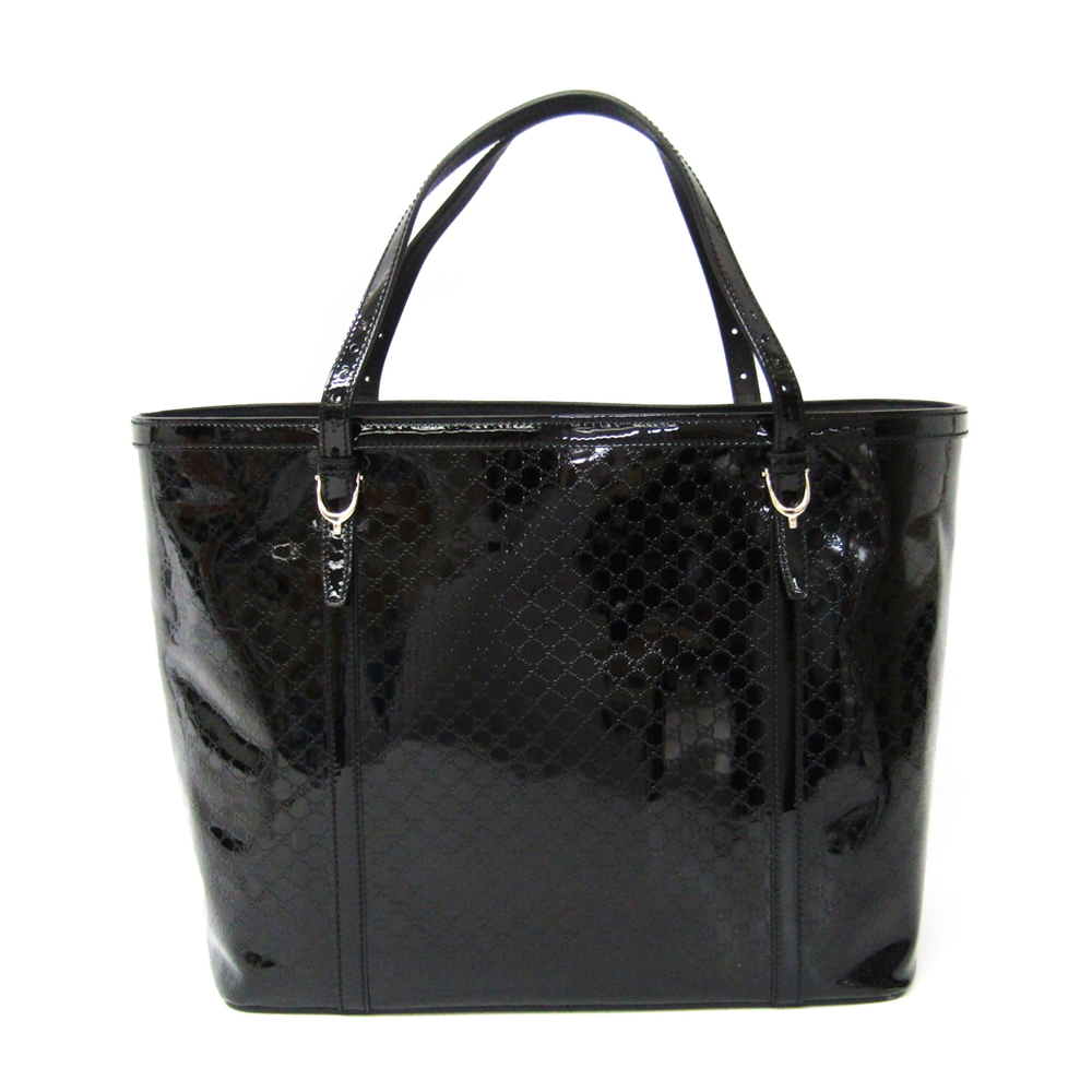 be99318fdb7 Gucci MicroGuccissima 309613 Women s Leather Tote Bag Black