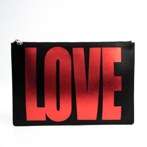 ジバンシィ(Givenchy) レザー クラッチバッグ ブラック,レッド