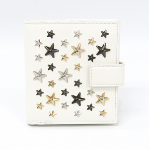Jimmy Choo FRIDA Women's Leather Wallet (bi-fold) White