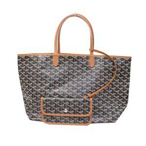 Goyard Saint Louis PM Tote Bag With Pouch Unisex Cotton Leather Bag Brown,Black