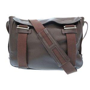 Hermes Men's Taurillon Clemence Leather Shoulder Bag Ebene