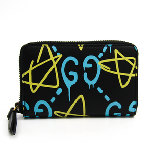 Gucci Leather Card Case Black,Blue,Yellow 448465 DS1AT 8438