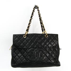 シャネル(Chanel) マトラッセ チェーントート キャビアスキン トートバッグ ブラック