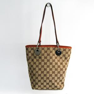 aa369e8583e2 Gucci 120840 Women's GG Canvas Tote Bag Beige,Light Brown