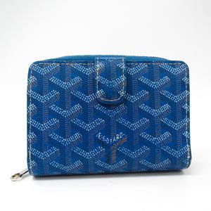 Goyard APMTUILERIES 10 PVC,Leather Wallet (bi-fold) Blue