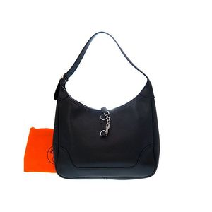 Hermes Trim Trim 31 Women's Epsom Leather Shoulder Bag Black