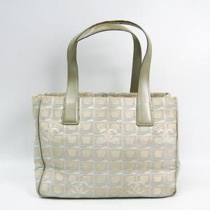 シャネル(Chanel) ニュートラベルライン トートPM A20457 レディース ジャガード トートバッグ シャンパンゴールド