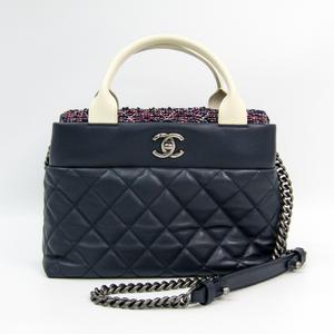 Chanel Leather Handbag Multi-color,Navy