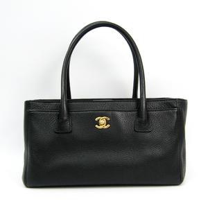 シャネル(Chanel) エグゼクティブトート レザー トートバッグ ブラック