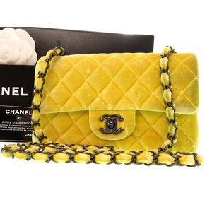 Chanel Matelasse A69900 Women's  Shoulder Bag Yellow