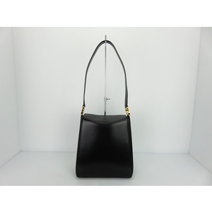 Salvatore Ferragamo Gancini Leather Shoulder Bag,Tote Bag Black