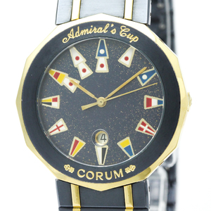 【CORUM】コルム アドミラルズカップ K18 ゴールド ステンレススチール クォーツ メンズ 時計 99.810.31