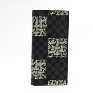 ルイ・ヴィトン(Louis Vuitton) ダミエ・グラフィット ポルトフォイユ・ブラザ クリストファー・ネメス N61211 メンズ ダミエキャンバス 長財布(二つ折り)