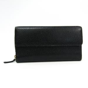 グッチ(Gucci) ユニセックス レザー 長財布(二つ折り) ブラック