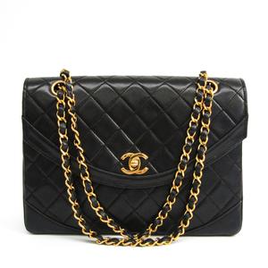 シャネル(Chanel) マトラッセ レディース レザー ショルダーバッグ ブラック