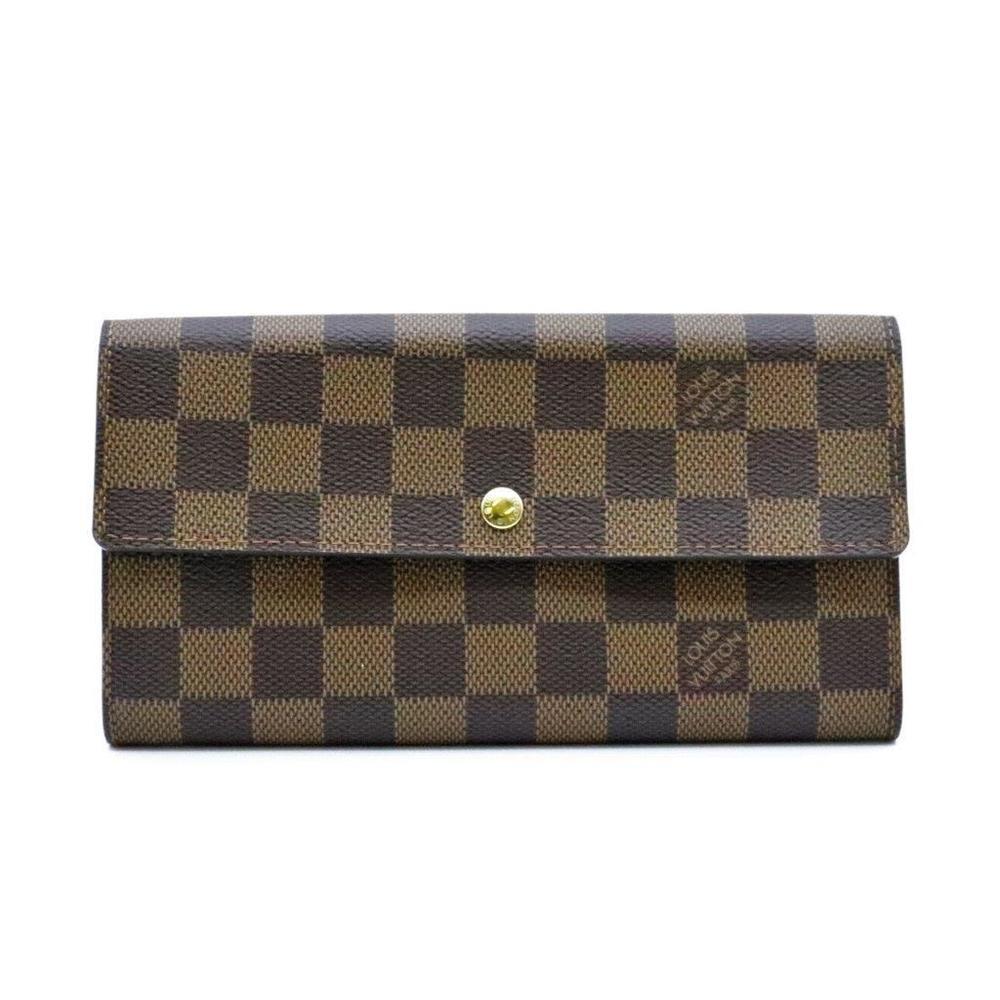 ルイ・ヴィトン(Louis Vuitton) ダミエ N61734 ダミエキャンバス 長財布(二つ折り) エベヌ