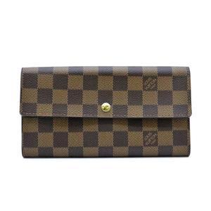 Louis Vuitton Damier N61734 Damier Canvas Long Wallet (bi-fold) Ebene