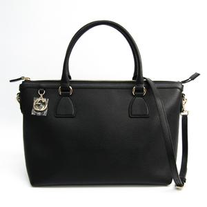 Gucci 449650 Women's Leather Handbag Black