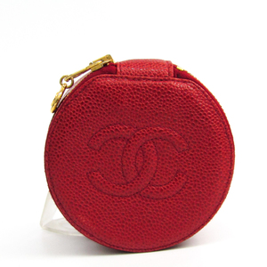 Chanel Jewelry Case Red Caviar leather