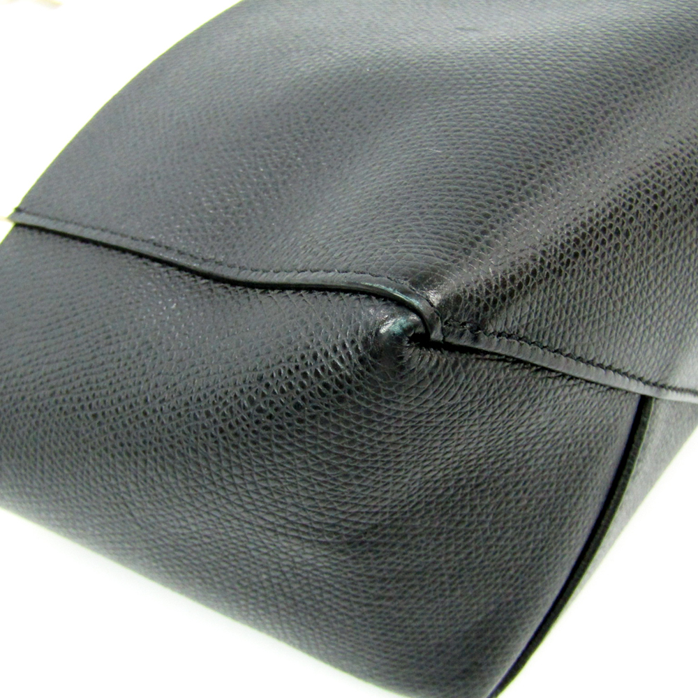 67b64191d6e9 Celine Cabas SMALL VERTICAL 176163 Women s Leather Tote Bag Black