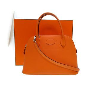 Hermes Bolide Women's Epsom Leather Handbag Orange