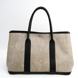 Hermes Garden Party Toile H Tote Bag Gray