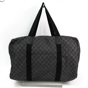 グッチ(Gucci) 105671 デニム,キャンバス ボストンバッグ ブラック