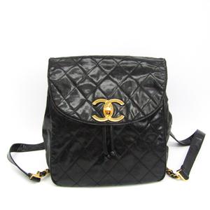 シャネル(Chanel) マトラッセ レディース レザー リュックサック ブラック