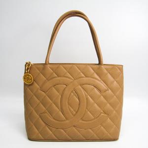 シャネル(Chanel) キャビア・スキン 復刻トート A01804 レディース レザー トートバッグ ベージュ