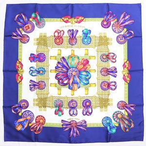Hermes Women's Silk Scarf Yellow RUBANS DU CHEVAL
