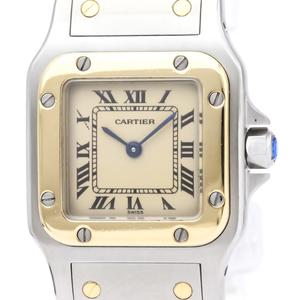 【CARTIER】カルティエ サントス ガルベ SM K18 ゴールド ステンレススチール クォーツ レディース 時計