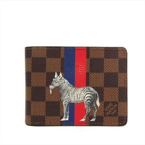 ルイ・ヴィトン(Louis Vuitton) ダミエ ポルトフォイユ・ミュルティプル サバンナ N63343 メンズ ダミエキャンバス 札入れ(二つ折り) ダミエ
