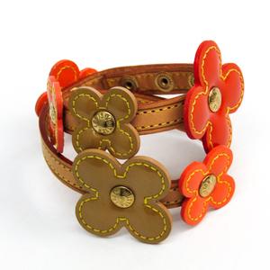 ルイ・ヴィトン(Louis Vuitton) レザー,ヴェルニ ラップブレスレット ベージュ,オレンジ ブレスレットフルール M92251