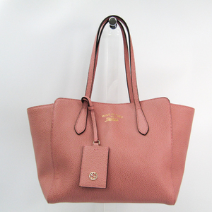 Gucci Gucci Swing 354408 Women's Leather Tote Bag Pink