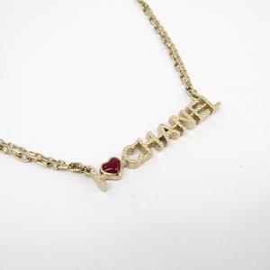 シャネル(Chanel) メタル レディース ペンダントネックレス (ゴールド,レッド) A98209