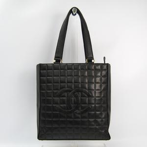 シャネル(Chanel) チョコバー レディース レザー トートバッグ ブラック