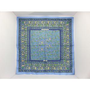 Hermes Women's Silk Scarf Blue