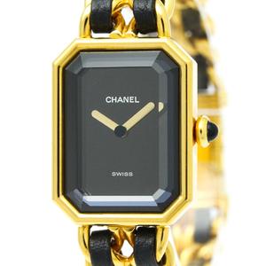 【CHANEL】シャネル プルミエール ゴールドプレート レザー クォーツ レディース 時計 H0001