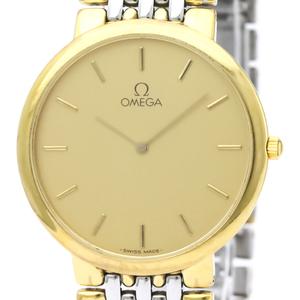 Omega De Ville Quartz Gold Plated Men's Dress Watch 395.0875
