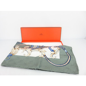 Hermes Women's Silk Scarf Gray