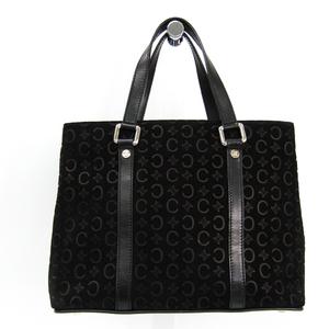 Celine C Macadam Women's Suede Handbag Black