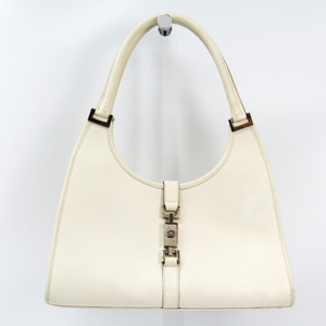 Gucci Jackie 002-1067 Women's Leather Shoulder Bag White