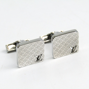 Louis Vuitton Lacquer,Stainless Steel Cufflinks Silver M65043
