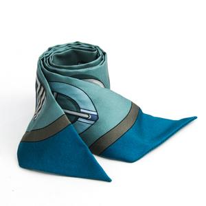 Hermes Women's Silk Scarf Blue,Gray,Green Twilly