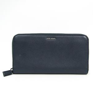 Prada Saffiano Unisex  Saffiano Leather Wallet (bi-fold) Dark Navy